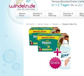 Pampers-lenor